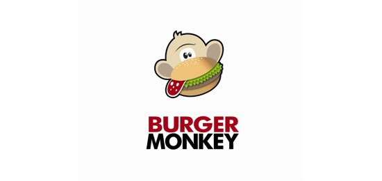 Burger Monkey logo design