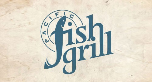 Pacific Fish Grill Logo Design