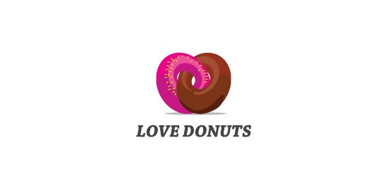 Love Donuts logo design