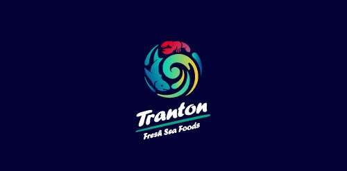 Tranton Fresh Sea Food Logo design